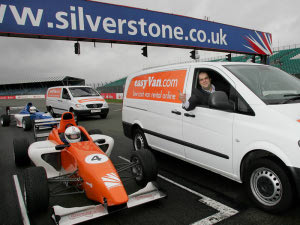 easyVan at Silverstone with Stelios