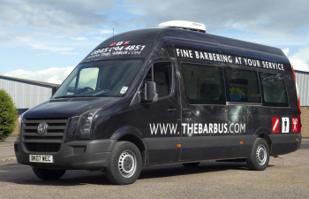 Clean Shaven VW Crafter Conversion Is Mobile Barber Van