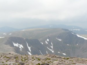 View from top of Cairn Gorm mountain