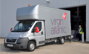 Virgin Atlantic Citroen Relay Luton van