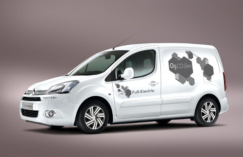 The Citroen Berlingo Electric made its UK debut at the CV Show 2013