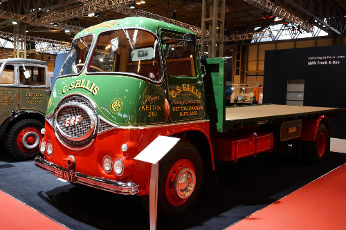 Classic ERF lorry at CV Show 2013