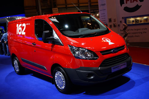 The new Ford Transit Custom at the CV Show 2013