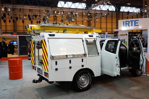 Isuzu D-Max Pick Up with utility body at CV Show 2013