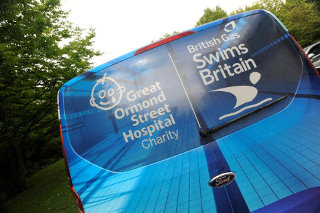 British Gas Swims Britain Transit Custom