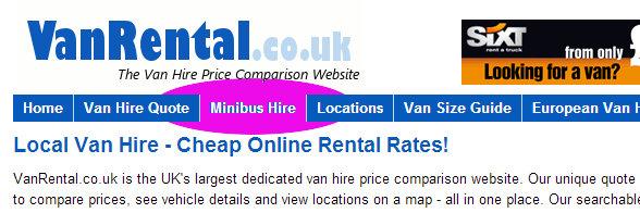 Minibus hire on vanrental.co.uk