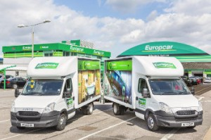 Europcar Iveco Luton vans at Heathrow
