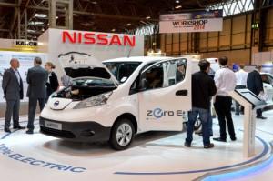 Nissan e-NV200 electric van at CV Show