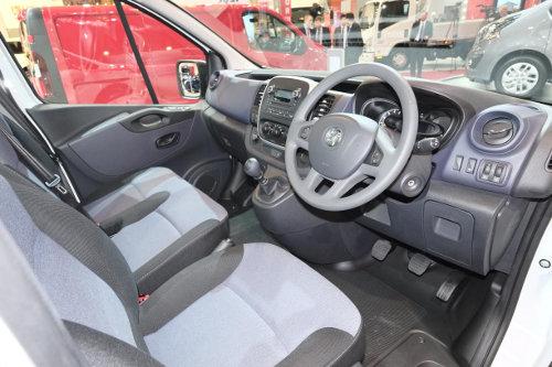 Vauxhall Vivaro cab interior