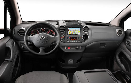 New 2015 Berlingo dashboard with touchscreen