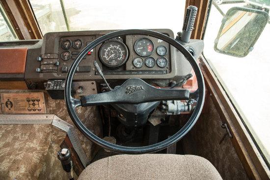 The cockpit: high tech it ain't