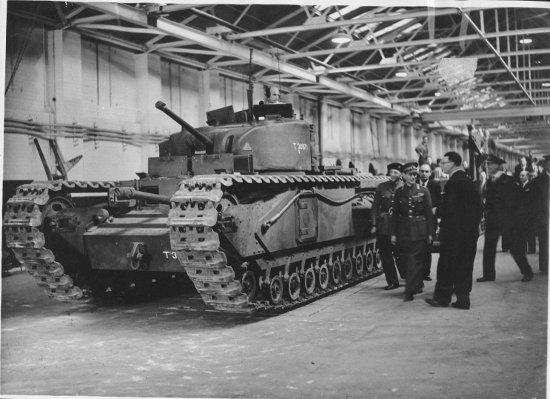 The Vauxhall-built Churchill tank