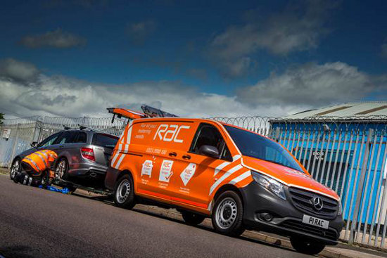 RAC Vito towing car