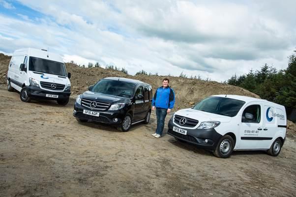 Caledonian Group Mercedes-Benz vans