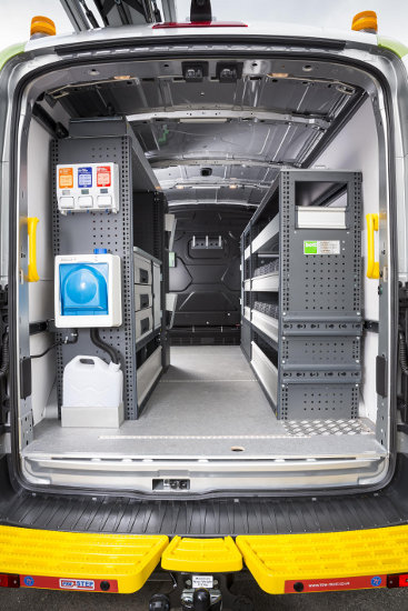 Interior of Environment Agency Transit AWD