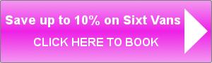 Save 10% on Sixt van rental