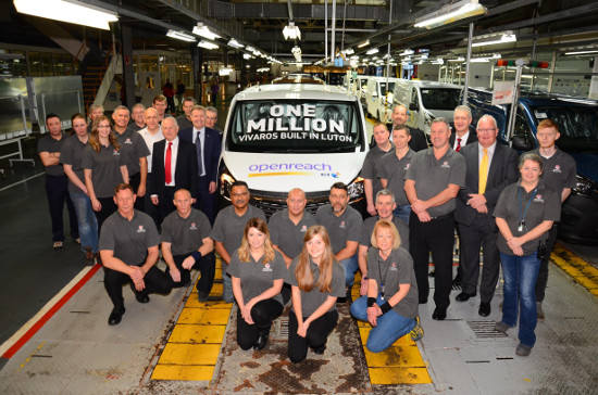 One millionth Vauxhall Vivaro at Luton
