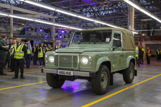 Last ever Land Rover Defender 90 Heritage Soft Top