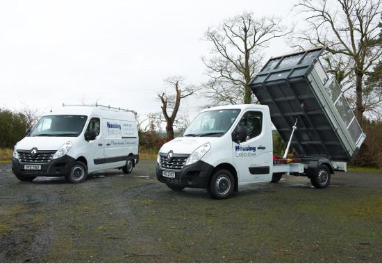 Northern Ireland Housing Executive Renault Master vans
