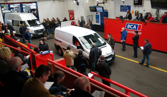Vans being sold at BCA auction