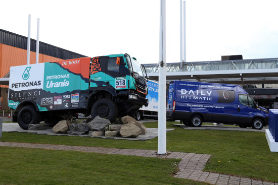 Iveco Daily with Dakar race truck