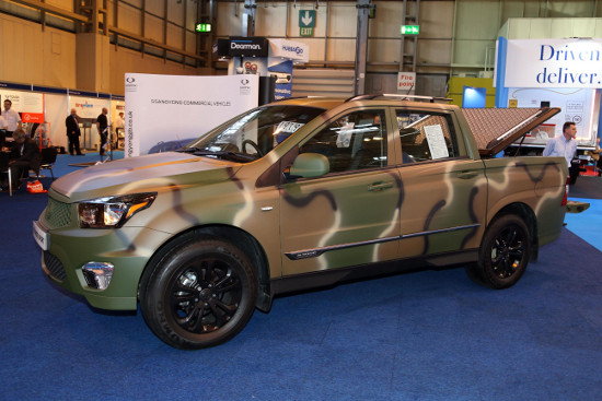SsangYong Korando Sport camouflage edition at CV Show 2016