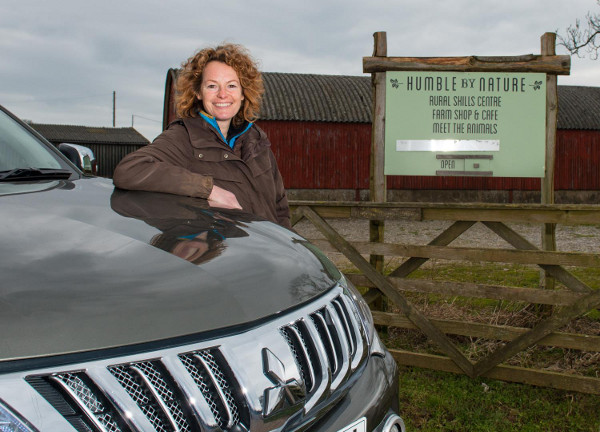 Kate Humble with her new Mitusbishi L200