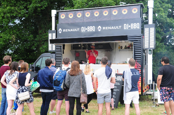 DJ BBQ wowing the crowds in his Renault van conversion