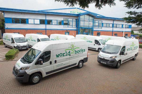 World of Books T.O.M. Vehicle Rental fleet