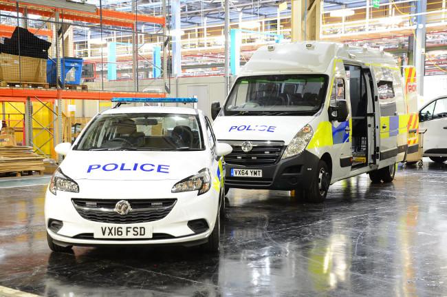Vauxhall Movano police van