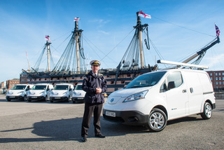 Royal Navy Nissan e-NV200 van at Portsmouth Naval Base