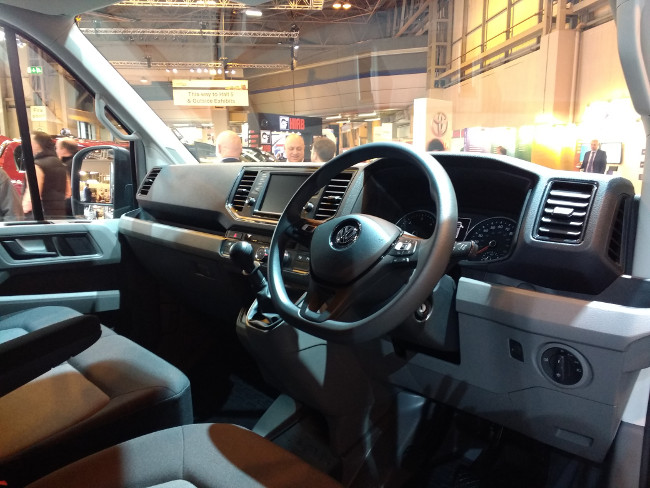 Inside the cab of the new VW Crafter