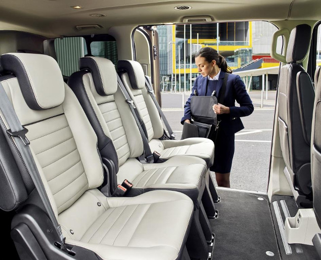Ford Tourneo Custom seating