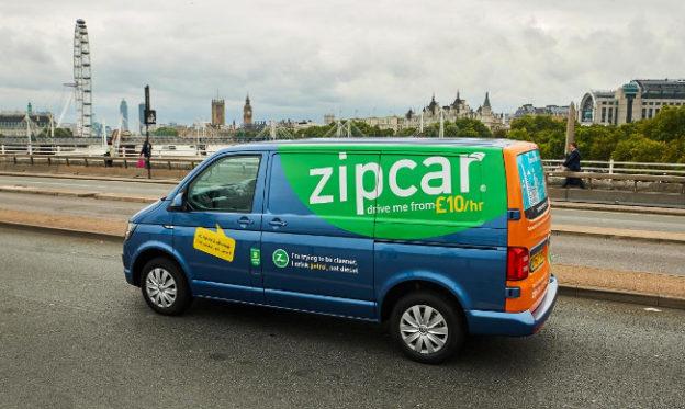 Zipcar petrol-powered VW Transporter in London