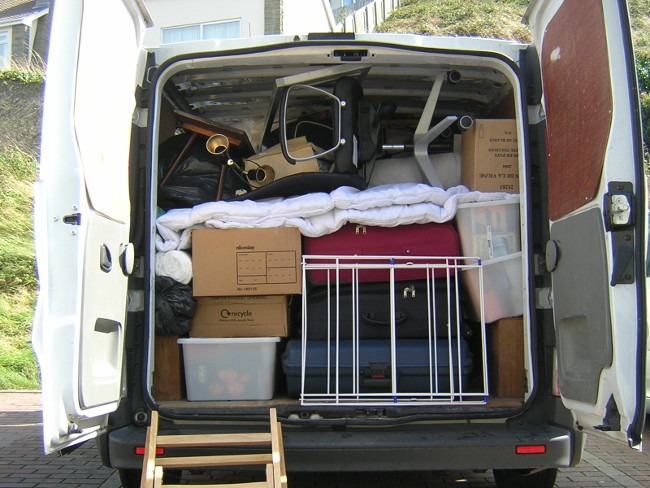 Moving house with a van