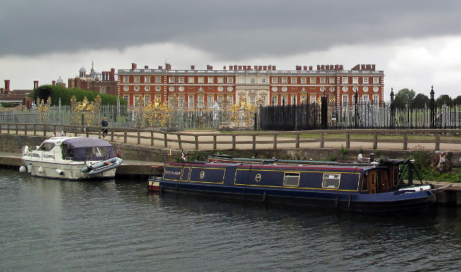 View of Hampton Court Palace from river